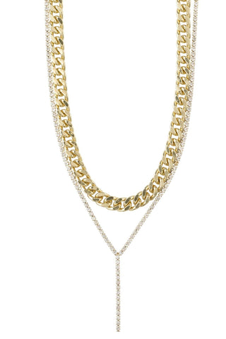 Pilgrim Radiance Necklace Crystal Gold Plated