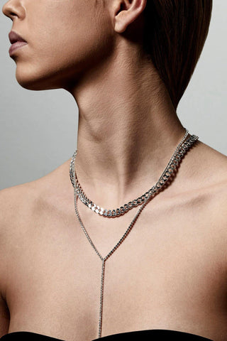 Pilgrim Radiance Necklace Crystal Silver Plated