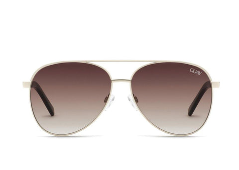 Quay Vivienne Sunglasses Gold/Brown