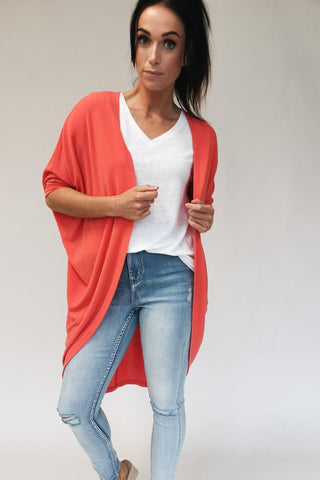 Freez Festival Shrug Tangerine Preorder Early March (2 for $89 Offer)