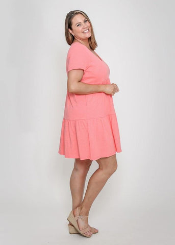 Leoni Curve Pia Dress Melon