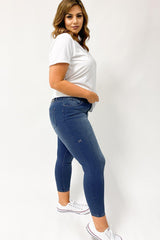 Shine On Label Cropped Sculpt Jeans Indigo Preorder Five Mid November