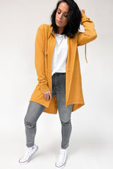 Silent Theory Ashleigh Hooded Cardi Mustard