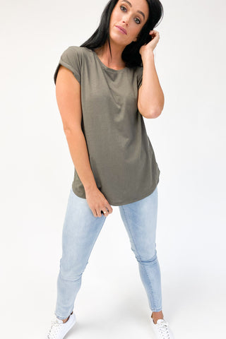 Silent Theory Lucy Tee Khaki (two4fifty)
