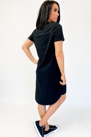 Silent Theory Twisted Tee Dress Black