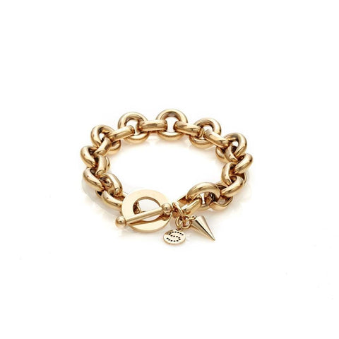 Silk & Steel Heirloom Bracelet Gold