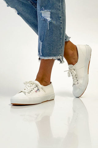 Superga Cotu Leather Sneakers White