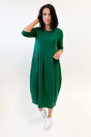 Tirelli Diagonal Seam Dress Sycamore