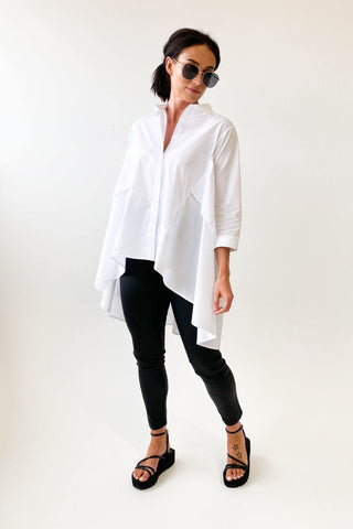 Tirelli Point Collar Shirt White