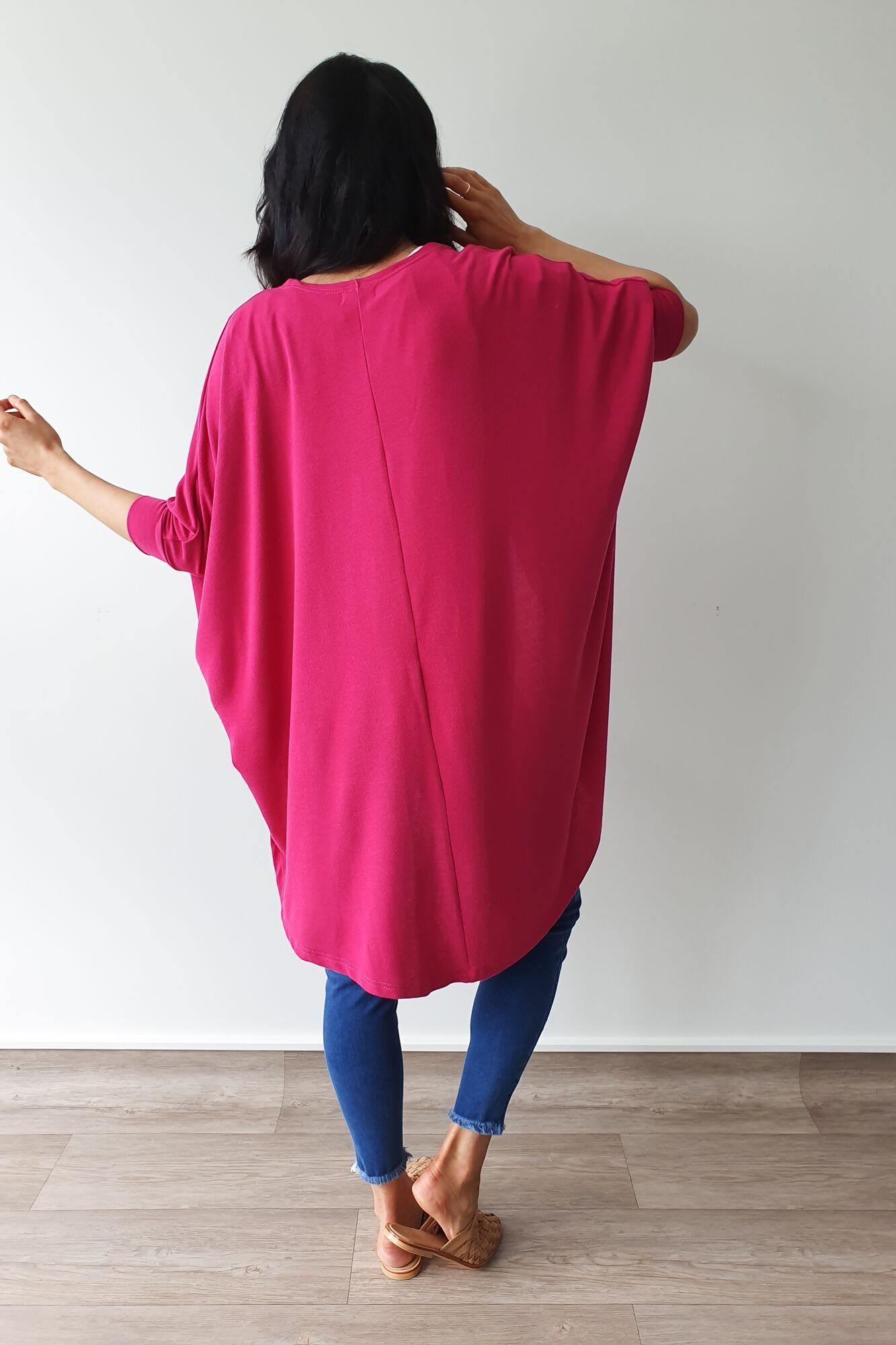Freez Festival Shrug Hot Pink