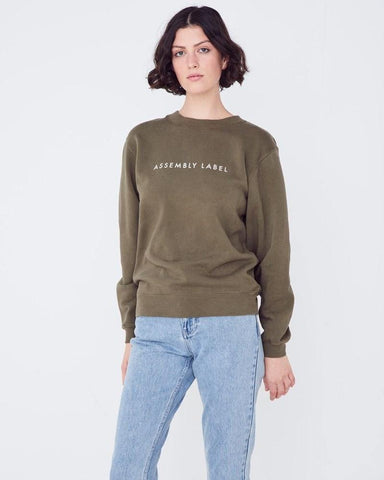 Assembly Label Logo Fleece Thyme