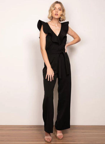 Wish Starstruck Jumpsuit Black
