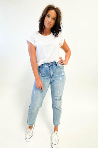 Wakee Denim Scarlett Jeans Washed Blue