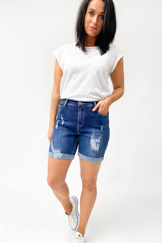 Wakee Denim Jess Long Shorts Blue