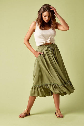 Isle of Mine Marquis Maxi Skirt Moss