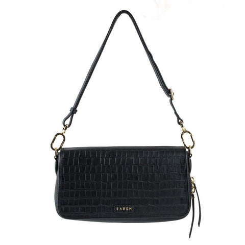 Saben Brooklyn Black Croc