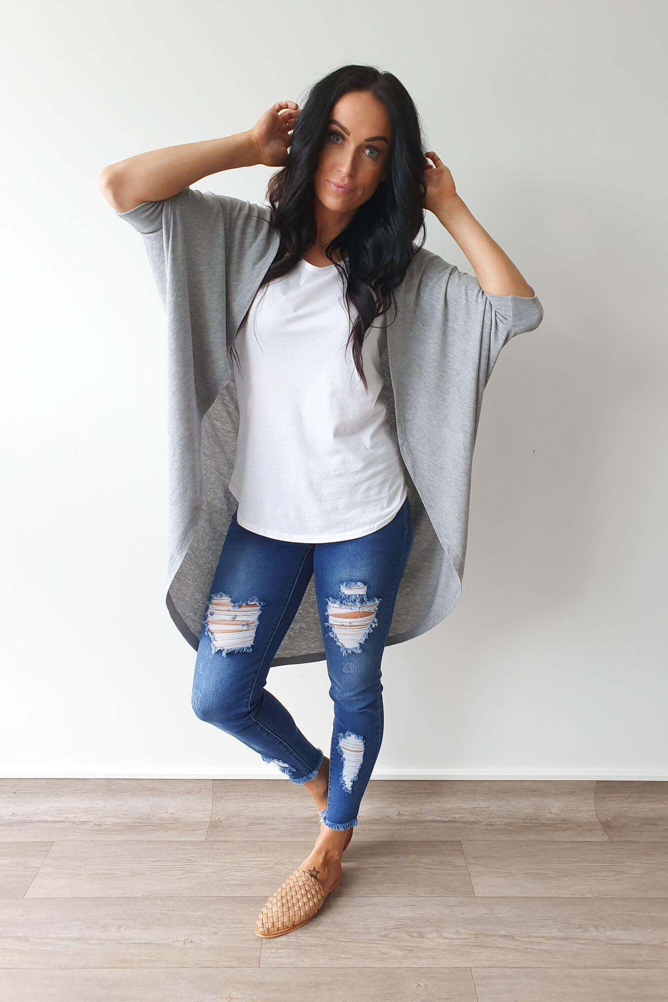 Freez Festival Shrug Grey