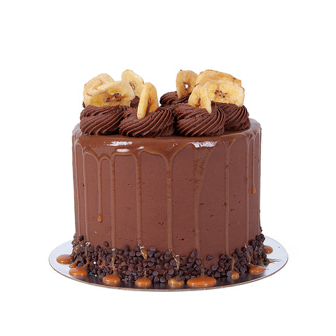 Banana Caramel Fudge Cake
