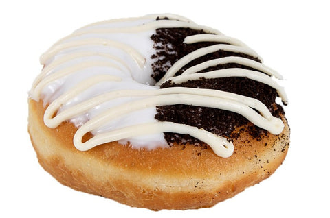 Black and White Donut