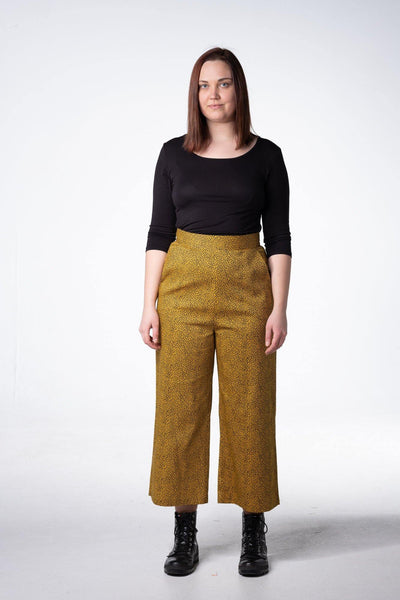 Ellipse yellow- black - High Waist Culotte Hose - rockit-baby