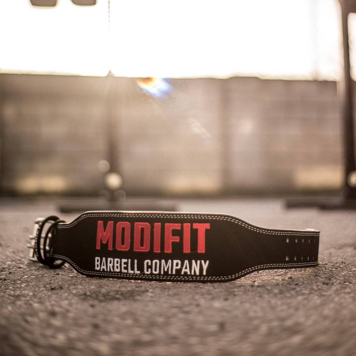 Black Suede Leather Weightlifting Belt