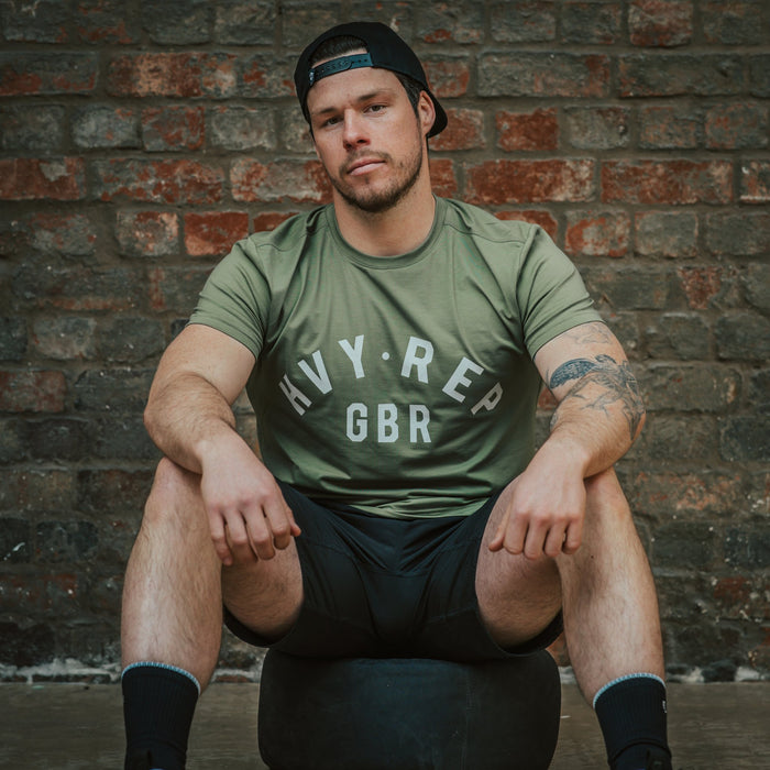 HVY REP GBR T-Shirt - Olive Green