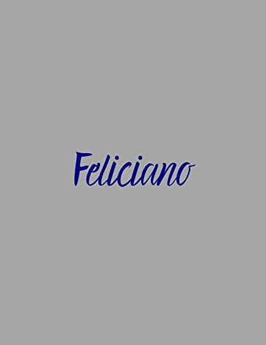Feliciano: notebook with the name on the cover, elegant, discreet, official notebook for notes, dot grid notebook,