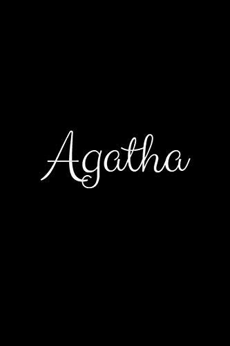Agatha: notebook with the name on the cover, elegant, discreet, official notebook for notes