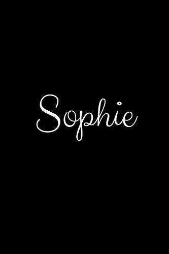 Sophie: notebook with the name on the cover, elegant, discreet, official notebook for notes