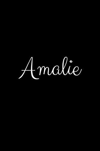 Amalie: notebook with the name on the cover, elegant, discreet, official notebook for notes