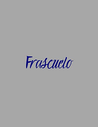 Frascuelo: notebook with the name on the cover, elegant, discreet, official notebook for notes, dot grid notebook,