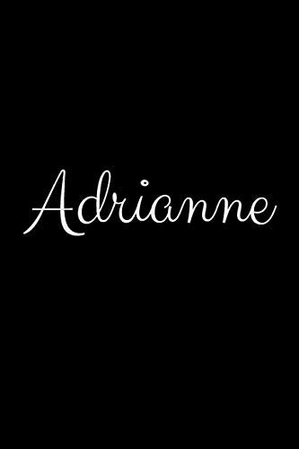 Adrianne: notebook with the name on the cover, elegant, discreet, official notebook for notes