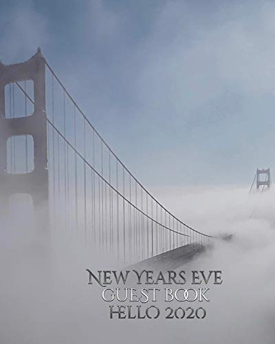 New Years Eve San Francisco golden gate bridge hello 2020 blank Guest Book