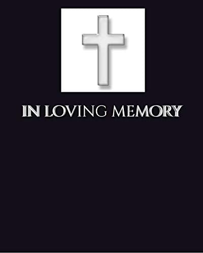 in loving memory funeral blank page Guest Book