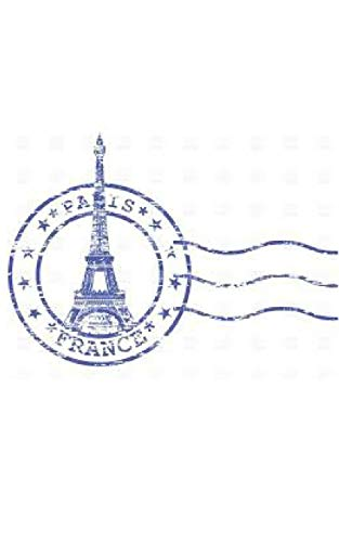 paris France postage stamp creative blank page journal
