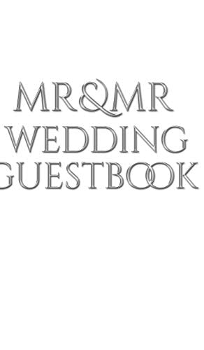Mr and Mr wedding Guest Book