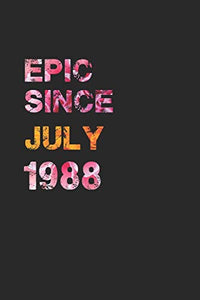 EPIC SINCE JULY 1988: Awesome ruled notebook