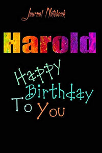 Harold: Happy Birthday To you Sheet 9x6 Inches 120 Pages with bleed - A Great Happybirthday Gift