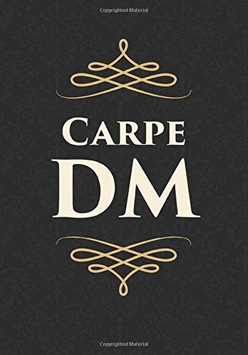 Carpe DM: Mixed Role Playing Gamer Paper (College Ruled, Graph, Hex): RPG Journal