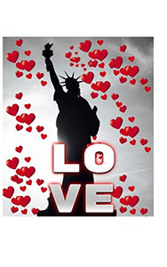 Statue Of Liberty Valentine's heart creative blank love journal