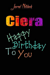Ciera: Happy Birthday To you Sheet 9x6 Inches 120 Pages with bleed - A Great Happybirthday Gift