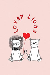 "Lover Lions: Valentine's Day Gift • ToDo Notebook in a cute Design • 6"" x 9"" (15.24 x 22.86 cm)"