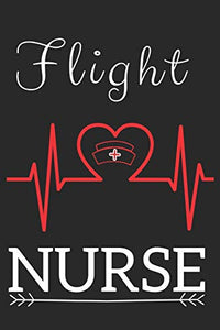 Flight Nurse: Nursing Valentines Gift (100 Pages, Design Notebook, 6 x 9) (Cool Notebooks) Paperback