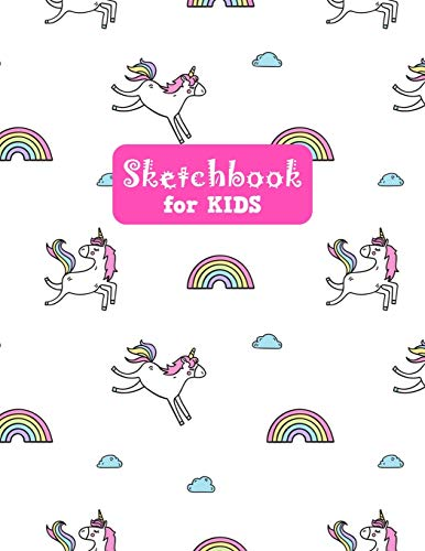 Sketchbook for Kids: Unicorn Large Sketch Book for Drawing, Writing, Painting, Sketching, Doodling and Activity Book- Birthday and Christmas Gift ... Boys, Teens and Women - Lilly Design # 0078