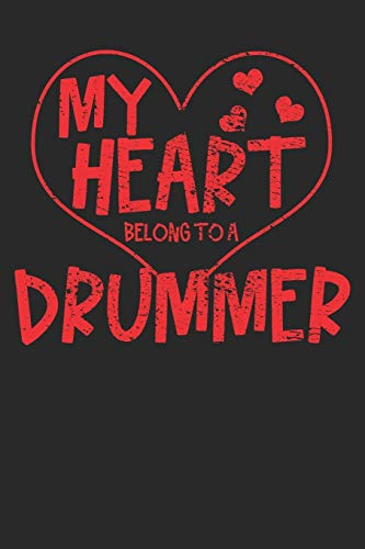 Notebook: Drummer Valentine's Day 6x9 Dot Grid 120 Pages