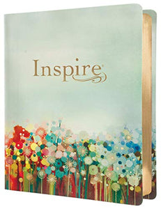 Inspire Bible Large Print NLT (LeatherLike, Floral Fields with Gold): The Bible for Coloring & Creative Journaling