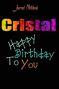 Cristal: Happy Birthday To you Sheet 9x6 Inches 120 Pages with bleed - A Great Happybirthday Gift