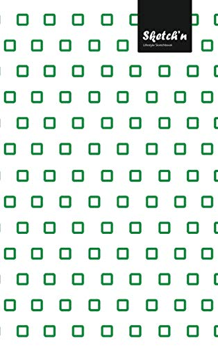 Sketch'n Lifestyle Sketchbook, (Cubes Pattern Print), 6 x 9 Inches, 102 Sheets (Green)