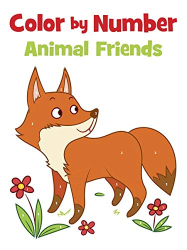 Color By Number Animal Friends