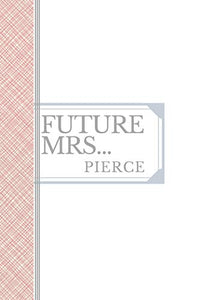 PIERCE: Future Mrs Pierce: 90 page sketchbook 6x9